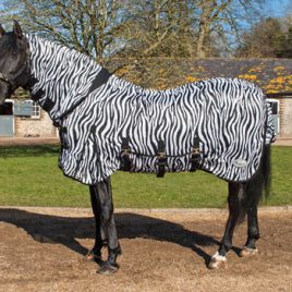 Rhinegold Zebra Print Full Neck Fly Rug