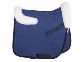Mattes Square Cut Saddle Pad Semi Lined with Saddle Shaped Trim