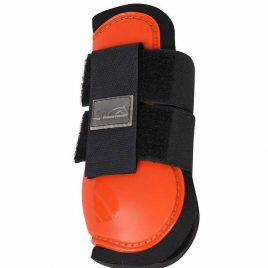 QHP Tendon and Fetlock Boots Orange Shetland