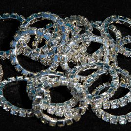Rhinegold Single Row Crystal Plaiting Bands