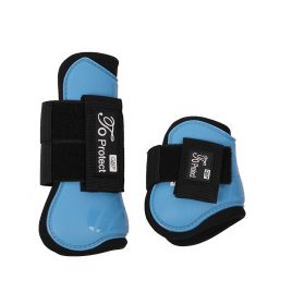 QHP Sky Blue pony Tendon and Fetlock Boots