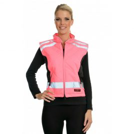 Equisafety Quilted Hi Vis Gilet – Polite, Orange, Yellow and Pink