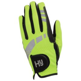 Hy5 reflective riding gloves
