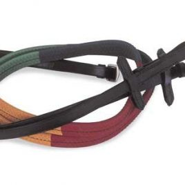 Windsor Equestrian Multi Coloured Rubber Covered Reins