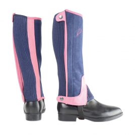 HyLAND Children's Two Tone Amara Half Chaps Navy and Raspberry Medium