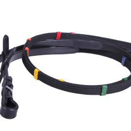 QHP Reins with Coloured stops