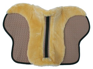 Mattes Eurofit Cut Saddle Pad Semi Lined with Strips of sheepskin along the front edge and saddle shaped trim