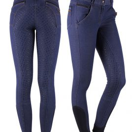 QHP Denim anti-slip Breeches UK 28