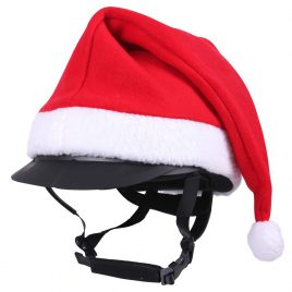 QHP Christmas Hat for Riding Hat