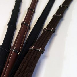 Montar Soft Leather/Rubber Combination Reins