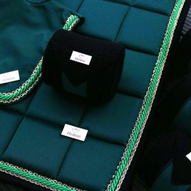 Horss Black and Forest Green Fleece Bandages