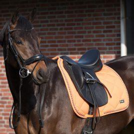 QHP Orange Saddle Pad