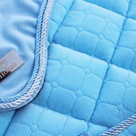 Pre order Horss Baby Blue Velvet Saddle Pad