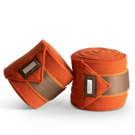 Equestrian Stockholm Brick Orange Fleece Bandages