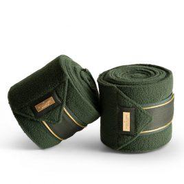 Equestrian Stockholm Forest Green Fleece Bandages
