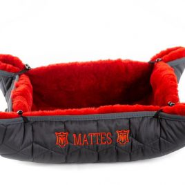 Mattes Bella Sheepskin Dog Bed