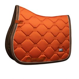 Equestrian Stockholm Brick Orange Jump/GP Saddle Pad