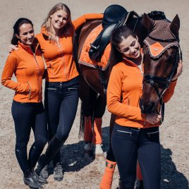 Equestrian Stockholm Brick Orange Dressage Saddle Pad