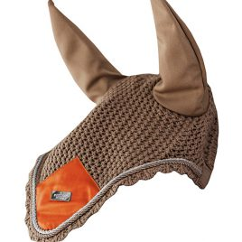 Equestrian Stockholm Brick Orange Ear Net
