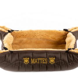 Mattes Snoopy Sheepskin Dog Bed