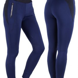 QHP Junior Riding Tights with Silicone Knee