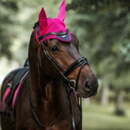Equestrian Stockholm Faded Fuchsia Ear Bonnet
