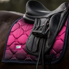 Equestrian Stockholm Faded Fuchsia Dressage Saddle Pad