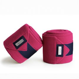 Equestrian Stockholm Faded Fuchsia Fleece Bandages