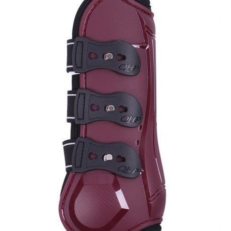 burgundy tendon boots