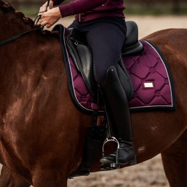 Equestrian Stockholm Purple Gold Dressage Saddle Pad
