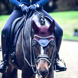 Equestrian Stockholm Merlot Crystal Ear Net – contact to pre order