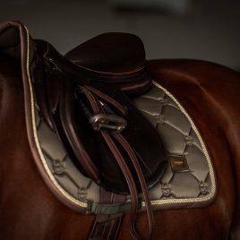 Equestrian Stockholm Golden Olive Jump/GP Saddle Pad
