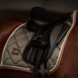 Equestrian Stockholm Golden Olive Dressage Saddle Pad