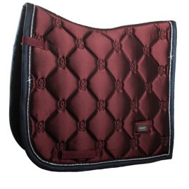 Equestrian Stockholm Merlot Crystal Dressage Saddle Pad