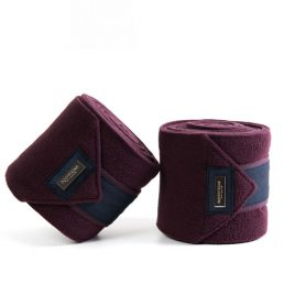 Equestrian Stockholm Merlot Crystal Fleece Bandages – contact to pre order