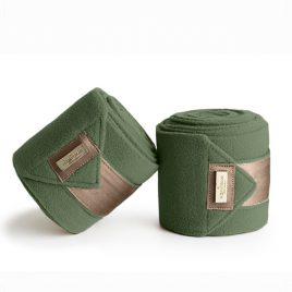 Equestrian Stockholm Golden Olive Fleece Bandages