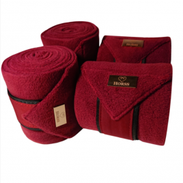 Horss Burgundy Fleece Bandages