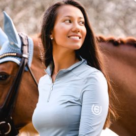 Equestrian Stockholm Steel Blue UV Protection Top