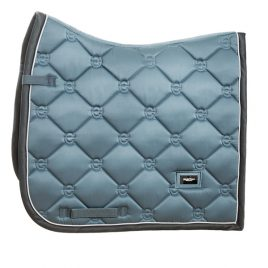Equestrian Stockholm Steel Blue Dressage Saddle Pad