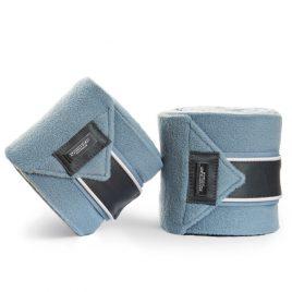 Equestrian Stockholm Steel Blue Fleece Bandages