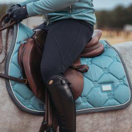 Equestrian Stockholm Steel Blue Jump/GP Saddle Pad