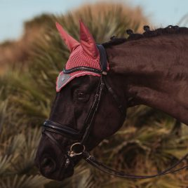 Equestrian Stockholm Rose Breeze Ear Net