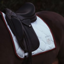 Equestrian Stockholm White Perfection Bordeaux Dressage Saddle Pad