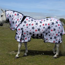 Rhinegold Sahara Star Print Full Neck Fly Rug