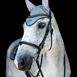 Equestrian Stockholm Grey Crystal Ear Net