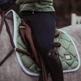 Equestrian Stockholm Pistachio White Jump/GP Saddle Pad