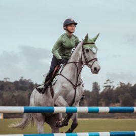 Equestrian Stockholm Pistachio White Ear Net