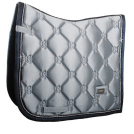 Equestrian Stockholm Crystal Grey Dressage Saddle Pad