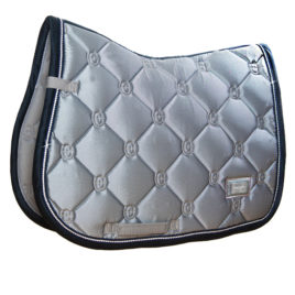 Equestrian Stockholm Crystal Grey Jump/GP Saddle Pad