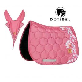 Dotibel Dusty Raspberry Flowers Saddle Pad